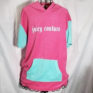 Juicy Couture Tunic Short Sleeve Hoodie, Goth Logo